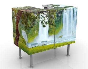 Waschbeckenunterschrank - Paradise on Earth - Badschrank Grün