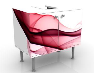 Waschbeckenunterschrank - Red Flame - Badschrank Weiß Rot
