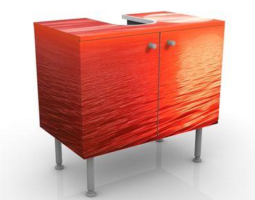 Waschbeckenunterschrank - Red Sunset - Badschrank Rot