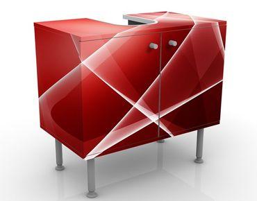 Waschbeckenunterschrank - Red Turbulency - Badschrank Rot