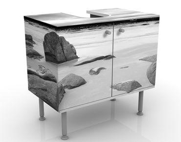 Waschbeckenunterschrank - Rocky Coast - Maritim Badschrank Weiß Grau