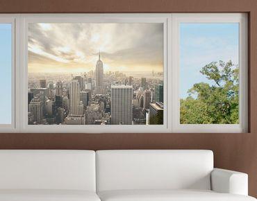 Fensterfolie - Sichtschutz Fenster Manhattan Dawn - Fensterbilder