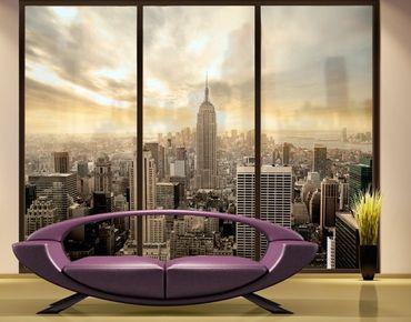 Fensterfolie - XXL Fensterbild Manhattan Dawn - Fenster Sichtschutz