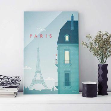Glasbild - Reiseposter - Paris - Hochformat 3:2