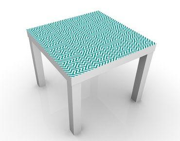 Beistelltisch - Geometrisches Design Mint