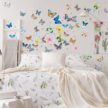 Wandtattoo Schmetterling Auf Markenfolie Bilderwelten