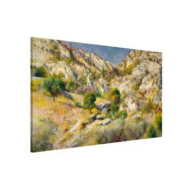 Magnettafel - Auguste Renoir - Felsen bei Estaque - Memoboard Querformat 2:3