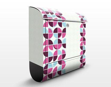 Design Briefkasten Retro Kreise Musterdesign 39x46x13cm