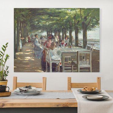 Leinwandbild - Max Liebermann - Terrasse des Restaurants Jacob - Querformat 3:4