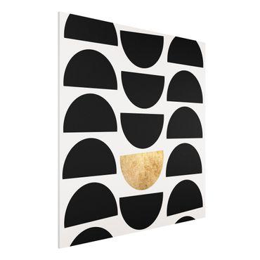 Forex Fine Art Print - Geometrischer Halbkreis II - Quadrat 1:1