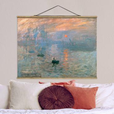 Stoffbild mit Posterleisten - Claude Monet - Impression - Querformat 4:3