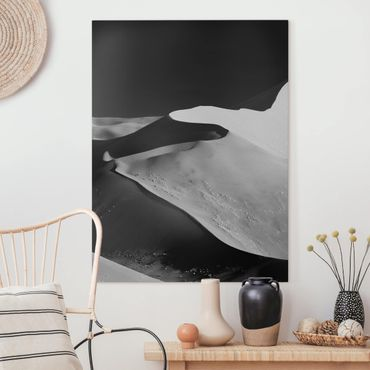 Leinwandbild - Wüste - Abstrakte Dünen - Hochformat 4:3