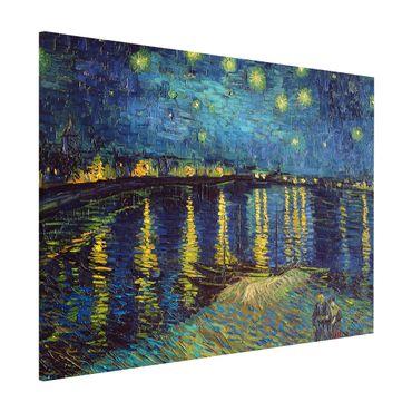 Magnettafel - Vincent van Gogh - Sternennacht über der Rhône - Memoboard Querformat 3:4
