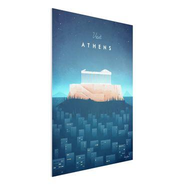 Forex Fine Art Print - Reiseposter - Athen - Hochformat 4:3