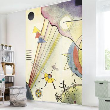Schiebegardinen Set - Wassily Kandinsky - Deutliche Verbindung - Flächenvorhänge