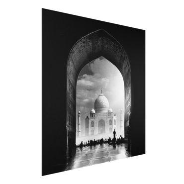 Forex Fine Art Print - Das Tor zum Taj Mahal - Quadrat 1:1