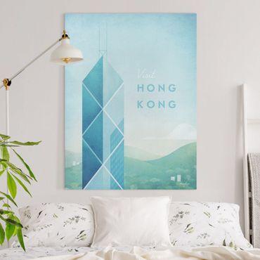 Leinwandbild - Reiseposter - Hong Kong - Hochformat 4:3