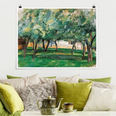 Poster - Paul Cézanne - Gehöft Normandie - Querformat 3:4