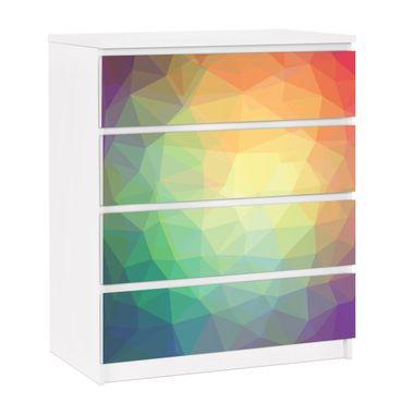 Möbelfolie für IKEA Malm Kommode - selbstklebende Folie No.RY32 Triangular