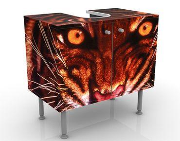 Waschbeckenunterschrank - Wilder Tiger - Badschrank Rot