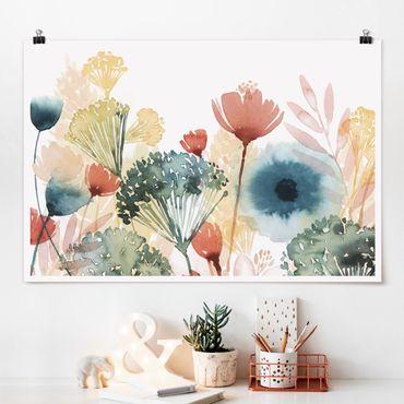 Poster - Wildblumen im Sommer I - Querformat 2:3
