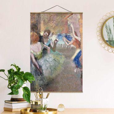 Stoffbild mit Posterleisten - Edgar Degas - Ballettszene - Hochformat 3:2