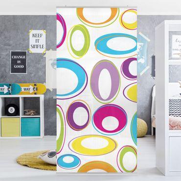 Raumteiler Kinderzimmer - Happy Eggs 250x120cm