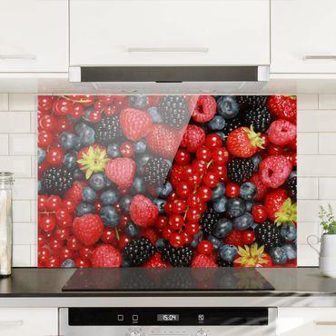 Spritzschutz Glas - Fruchtige Waldbeeren - Querformat - 3:2