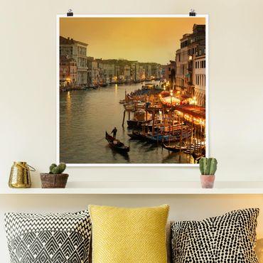 Poster - Großer Kanal von Venedig - Quadrat 1:1