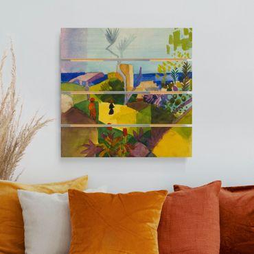 Holzbild - August Macke - Landschaft am Meer - Quadrat 1:1