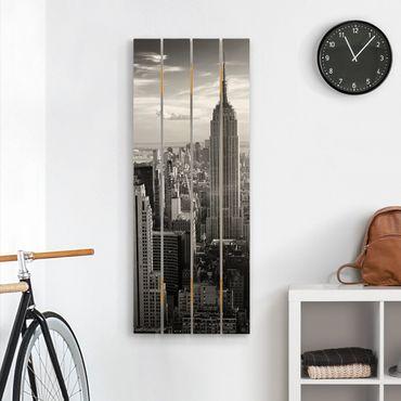Holzbild - Manhattan Skyline - Hochformat 5:2