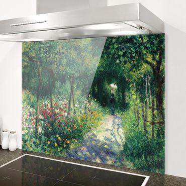 Spritzschutz Glas - Auguste Renoir - Frauen im Garten - Querformat 3:4