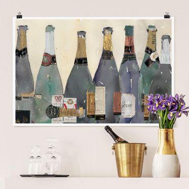Poster - Entkorkt - Champagner - Querformat 2:3
