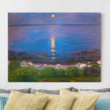 Leinwandbild - Edvard Munch - Sommernacht am Meeresstrand - Querformat 3:4