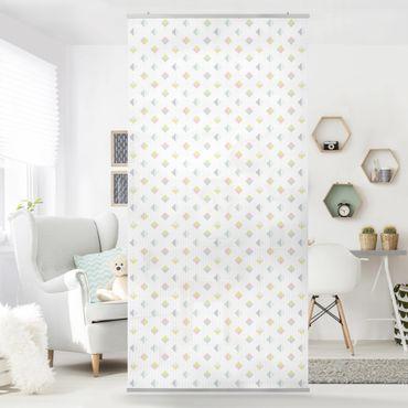 Raumteiler - Pastell Dreiecke 250x120cm