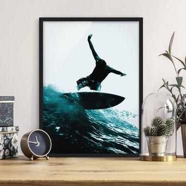 Bild mit Rahmen - Surfing Hero - Hochformat 3:4