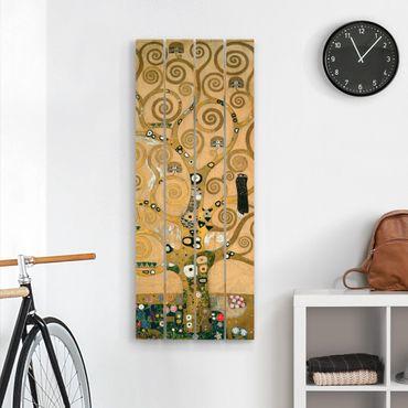 Holzbild - Gustav Klimt - Der Lebensbaum - Hochformat 5:2