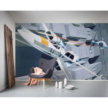 Disney Kindertapete - Star Wars Classic RMQ X-Wing vs TIE-Fighter - Komar Fototapete