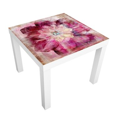 Möbelfolie für IKEA Lack - Klebefolie Grunge Flower