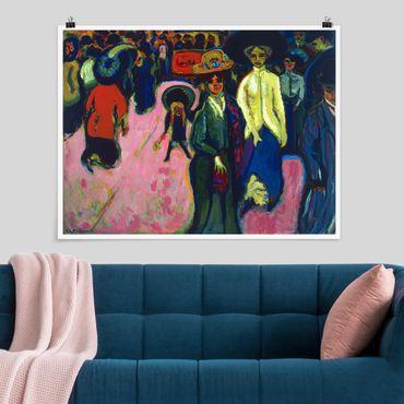 Poster - Ernst Ludwig Kirchner - Straße in Dresden - Querformat 3:4