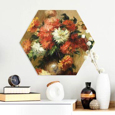 Hexagon Bild Forex - Auguste Renoir - Stilleben mit Dahlien