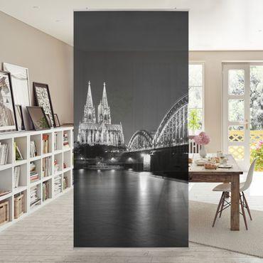 Raumteiler - Köln bei Nacht II 250x120cm