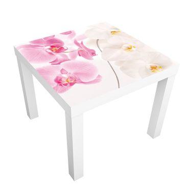 Möbelfolie für IKEA Lack - Klebefolie Delicate Orchids