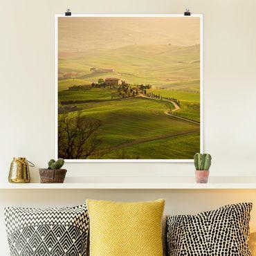 Poster - Chianti Toskana - Quadrat 1:1