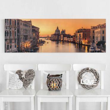 Leinwandbild - Goldenes Venedig - Panorama 1:3