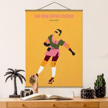 Stoffbild mit Posterleisten - Filmposter Gib dem Affen Zucker - Hochformat 4:3
