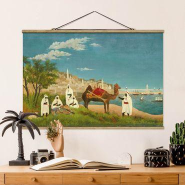 Stoffbild mit Posterleisten - Henri Rousseau - Landschaft um Algier - Querformat 2:3