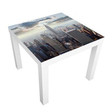 Möbelfolie für IKEA Lack - Klebefolie Sonnenaufgang in New York