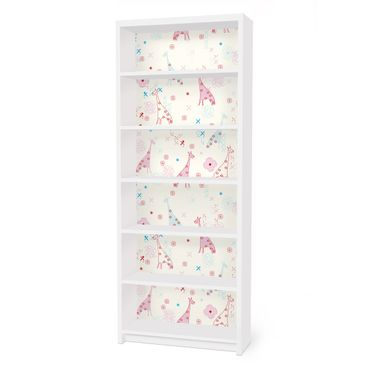 Möbelfolie für IKEA Billy Regal - Klebefolie Dreaming Giraffe