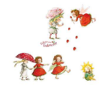 Wandtattoo Kinderzimmer Erdbeerinchen Erdbeerfee - Erdbeerinchen, Ida und Eleni Sticker Set